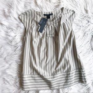 Marc By Marc Jacobs Silk Blend Stripe Blouse a350